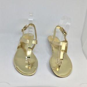 DV by Dolce Vita Ankle Strap Abley Sandal in Gold